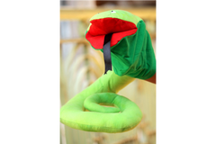 Mesh Stuffed Toy - Snake Puppet