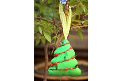 Blue Mango Stuffed Hanging - Organza Tree Ornament