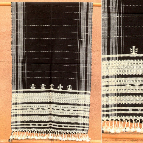 Kutch Weaving Handwoven Wool Stole by Vankar Babulal Ladhu