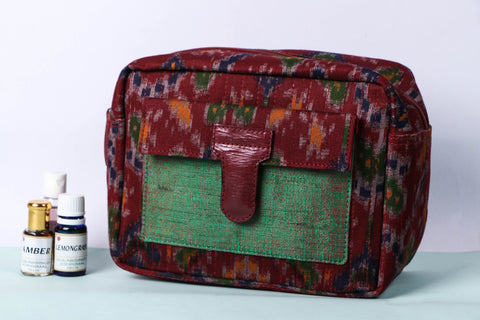 Handcrafted Quilted Multipurpose Waterproof Toiletry Bag