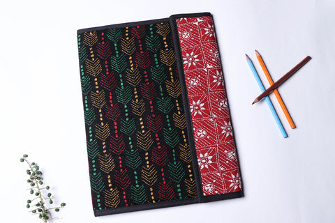 Bengal Kantha Work Handcrafted File Folder