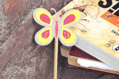 Ele Poo Paper Bookmark Butterfly