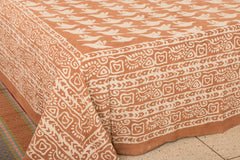 Natural Dyed Bindaas Print Cotton Double Bedcover