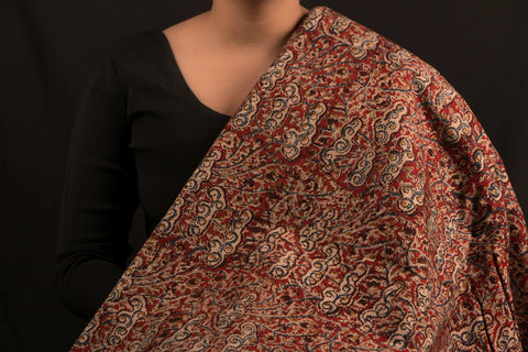 Hand Block Print Kalamkari Cotton Fabric