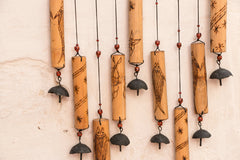Handcarved Bamboo Wind Chime - 9 Bell