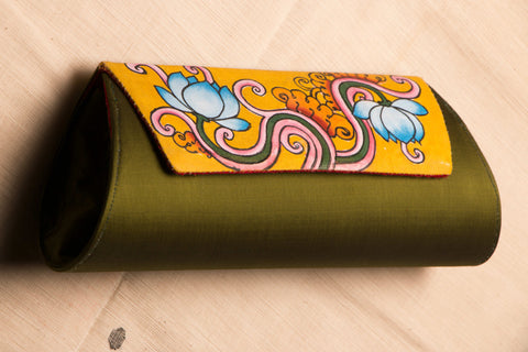 Kerala Mural Painted Clutch By Sujith