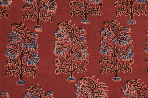 Ajrakh Print Precut Cotton Fabric - 3.2 Meter