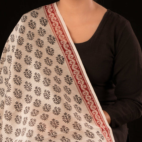 Natural Dyed Bagh Print Handloom Chanderi Silk Fabric