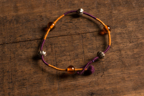Patwa Double Thread Anklet With Beads