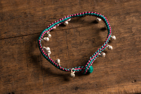 Patwa Thread Anklet With Ghungroo