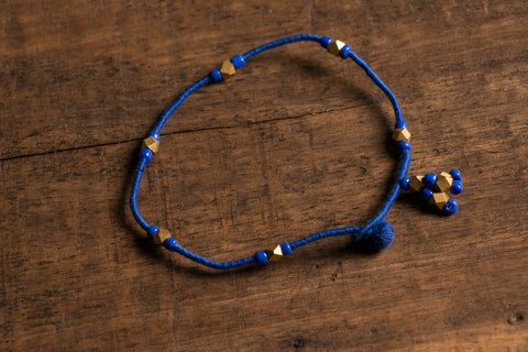 Patwa Thread Anklet With Brass Work