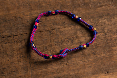 Patwa Thread Anklet With Brass Beads Work
