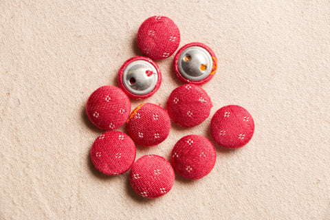 Handmade Fabric Button Small (Set Of 10 )