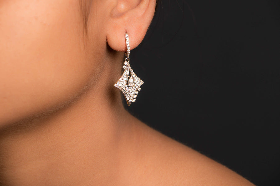 Sterling Silver Natural Stone Earring