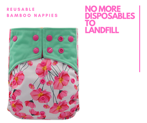 Reusable bamboo cloth nappies - diapers