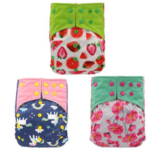 Load image into Gallery viewer, Reusable bamboo cloth nappies - diapers (3 Pack)