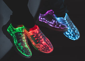 Shoes: Men & Women's Fiber Optic Light Up Shoes