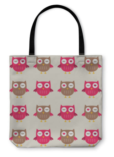 Tote Bag, Owls Pattern