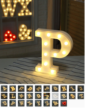 Load image into Gallery viewer, DIY 26 English Letters LED Night Light Marquee: Proposal, Wedding, Party, Event