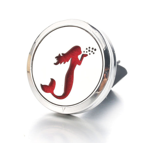 Mermaid Stainless Steel Car Air Diffuser Locket