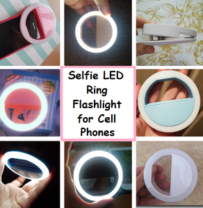 Selfie LED Ring Flashlight for Most Portable Mobile Phones