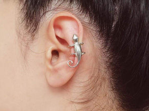 Ear Cuff Salamander, Sterling Silver, Adjustable, No Piercing Required