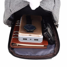 Load image into Gallery viewer, Backpack: Techy, Anti-theft External USB Charger Incline Shoulder Bag