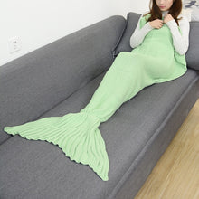 Load image into Gallery viewer, #mermaidparty! Viral-Selling Handmade Mermaid Tail Blanket, 14 Colors!