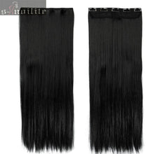 "Load image into Gallery viewer, 30"" max. Waist-Long Human Hair Extensions, Real, Natural Look, Set/5"
