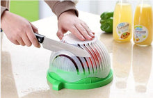 Load image into Gallery viewer, 2019 Genius Salad Cutting Bowl, w/ Wave Edge & Washing Strainer all-in-one!
