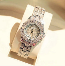 Load image into Gallery viewer, New Designer Rhinestone Mashali Watch w/ Diamond Luxury Band, Bracelet Wristwatch, Crystal Quartz