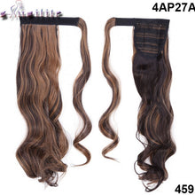 "Load image into Gallery viewer, 23"" Long Curly & Straight Clip-In Ponytail Extensions, Synthetic Hair Pony Tail"