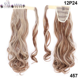 "23"" Long Curly & Straight Clip-In Ponytail Extensions, Synthetic Hair Pony Tail"