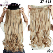 "Load image into Gallery viewer, Long Curly Wavy Clip-In Hair Extensions, 24"" of Synthetic Fiber, All Colors"