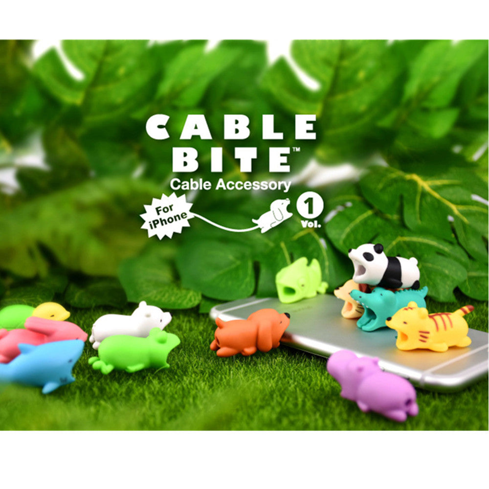 iPhone 8 /Android Cable Bite Animal Dust Plugs, for Charging Port
