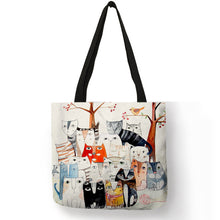 Load image into Gallery viewer, It's Raining Cats! Fashion Handbag Tote, For School, Shopping, Beach, Groceries..and cats!