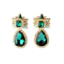 Load image into Gallery viewer, Dazzling Emerald Green Earrings--Elegance Defined!