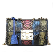 Load image into Gallery viewer, Luxury Designer Serpentine-Patterned Leather Clutch Handbag