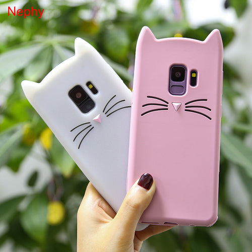 Cute Cat Cell Phone Case For Samsung Galaxy