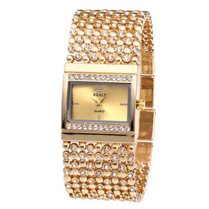 2019 Ladies Luxury Diamond Gemstone Designer Watch, Quartz w/ Gem Strap