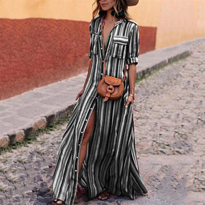 Rainbow Striped Beach Maxi Dress, Trendsetter