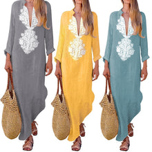 Load image into Gallery viewer, Long Robe Tunic Dress, Pastels, Long Sleeve, Indie Folk Clothing