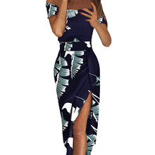 Load image into Gallery viewer, 2019 Chic Tropical Print Bohemian Evening Sun Dress, Silk