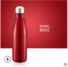 Load image into Gallery viewer, Portable Stainless Steel Vacuum-Insulated Water Bottle, Double Wall Thermos