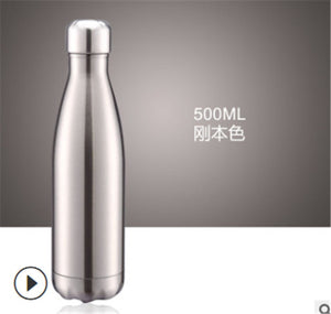Portable Stainless Steel Vacuum-Insulated Water Bottle, Double Wall Thermos
