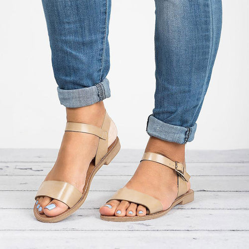 2019 Summer Simply Stylish Flat Strappy Sandals, Assorted Colors & Prints