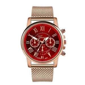 Women's Luxury Quartz Sport Military Watch, Stainless Steel Dial