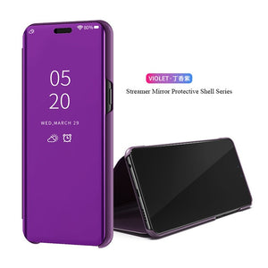 Samsung Flip Cell Case, Mirror Stand Phone Cover