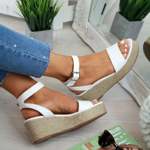 Summer 2019 Wedge Sandal Pumps w/ Ankle Buckle Strap