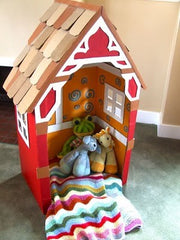 Make a Cardboard House for the Bananas in Pyjamas